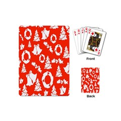 Backdrop Background Card Christmas Playing Cards (Mini)
