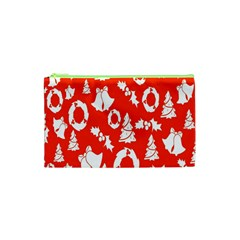 Backdrop Background Card Christmas Cosmetic Bag (xs) by Nexatart