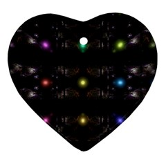 Abstract Sphere Box Space Hyper Ornament (heart)