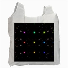 Abstract Sphere Box Space Hyper Recycle Bag (one Side) by Nexatart