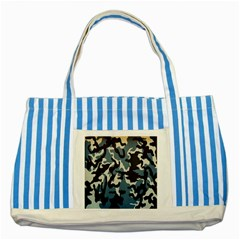 Blue Water Camouflage Striped Blue Tote Bag by Nexatart