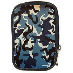 Blue Water Camouflage Compact Camera Cases by Nexatart