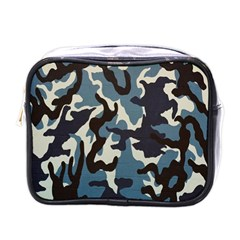 Blue Water Camouflage Mini Toiletries Bags by Nexatart