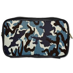 Blue Water Camouflage Toiletries Bags 2 Side by Nexatart