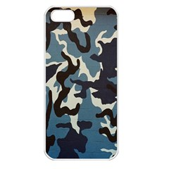 Blue Water Camouflage Apple Iphone 5 Seamless Case (white)