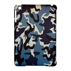 Blue Water Camouflage Apple Ipad Mini Hardshell Case (compatible With Smart Cover)