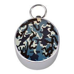 Blue Water Camouflage Mini Silver Compasses