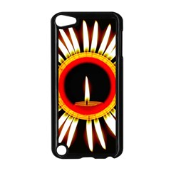Candle Ring Flower Blossom Bloom Apple Ipod Touch 5 Case (black)