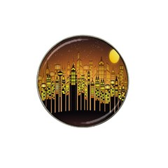 Buildings Skyscrapers City Hat Clip Ball Marker (4 Pack) by Nexatart