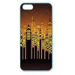 Buildings Skyscrapers City Apple Seamless Iphone 5 Case (color)