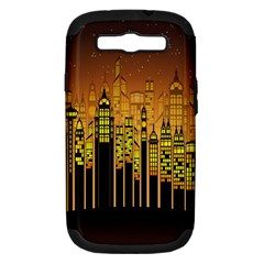 Buildings Skyscrapers City Samsung Galaxy S Iii Hardshell Case (pc+silicone)