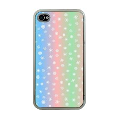 Christmas Happy Holidays Snowflakes Apple iPhone 4 Case (Clear)