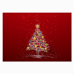 Colorful Christmas Tree Large Glasses Cloth (2 Side) by Nexatart