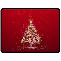 Colorful Christmas Tree Fleece Blanket (large)  by Nexatart