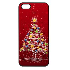 Colorful Christmas Tree Apple Iphone 5 Seamless Case (black) by Nexatart