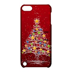 Colorful Christmas Tree Apple Ipod Touch 5 Hardshell Case With Stand