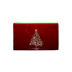 Colorful Christmas Tree Cosmetic Bag (xs) by Nexatart