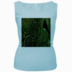Fractal Complexity 3d Dimensional Women s Baby Blue Tank Top