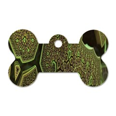 Fractal Complexity 3d Dimensional Dog Tag Bone (one Side) by Nexatart
