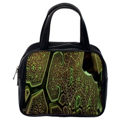 Fractal Complexity 3d Dimensional Classic Handbags (one Side)