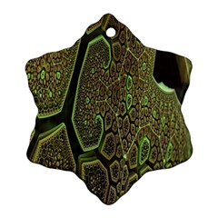 Fractal Complexity 3d Dimensional Snowflake Ornament (two Sides)