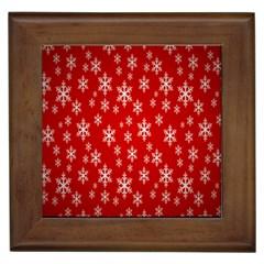 Christmas Snow Flake Pattern Framed Tiles by Nexatart