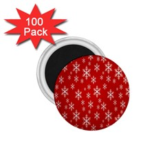 Christmas Snow Flake Pattern 1 75  Magnets (100 Pack)  by Nexatart