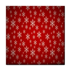 Christmas Snow Flake Pattern Face Towel by Nexatart