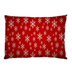 Christmas Snow Flake Pattern Pillow Case by Nexatart