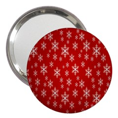 Christmas Snow Flake Pattern 3  Handbag Mirrors