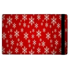 Christmas Snow Flake Pattern Apple Ipad 2 Flip Case by Nexatart