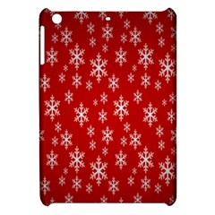 Christmas Snow Flake Pattern Apple Ipad Mini Hardshell Case by Nexatart