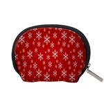 Christmas Snow Flake Pattern Accessory Pouches (Small)  Back