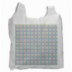 Grid Squares Texture Pattern Recycle Bag (two Side)