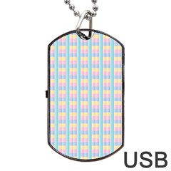 Grid Squares Texture Pattern Dog Tag Usb Flash (one Side)