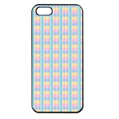 Grid Squares Texture Pattern Apple Iphone 5 Seamless Case (black) by Nexatart