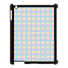 Grid Squares Texture Pattern Apple Ipad 3/4 Case (black) by Nexatart
