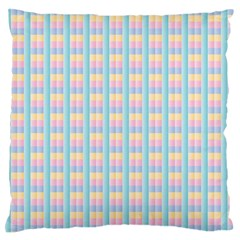 Grid Squares Texture Pattern Large Flano Cushion Case (one Side) by Nexatart