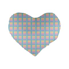Grid Squares Texture Pattern Standard 16  Premium Flano Heart Shape Cushions