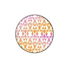Geometric Abstract Orange Purple Pattern Hat Clip Ball Marker (4 Pack) by Nexatart
