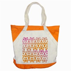 Geometric Abstract Orange Purple Pattern Accent Tote Bag