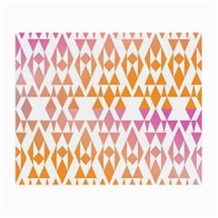 Geometric Abstract Orange Purple Pattern Small Glasses Cloth (2 Side)