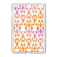 Geometric Abstract Orange Purple Pattern Apple Ipad Mini Case (white)