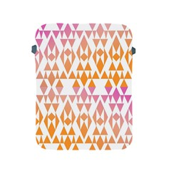Geometric Abstract Orange Purple Pattern Apple Ipad 2/3/4 Protective Soft Cases