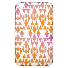Geometric Abstract Orange Purple Pattern Samsung Galaxy Tab 3 (8 ) T3100 Hardshell Case