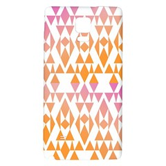 Geometric Abstract Orange Purple Pattern Galaxy Note 4 Back Case by Nexatart
