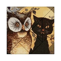 Owl And Black Cat Acrylic Tangram Puzzle (6  X 6 )