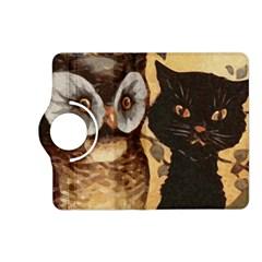 Owl And Black Cat Kindle Fire Hd (2013) Flip 360 Case