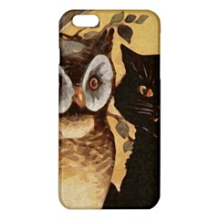 Owl And Black Cat Iphone 6 Plus/6s Plus Tpu Case by Nexatart