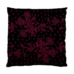 Pink Floral Pattern Background Wallpaper Standard Cushion Case (two Sides)
